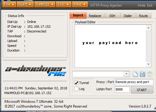 latest version HTTP Proxy Injector