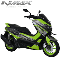 Harga Cash dan Kredit Motor Modifikasi Yamaha NMax Custom Gunmetal Hijau Movistar