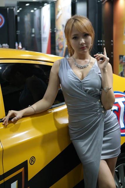 3 Park Ji Eun - Seoul Auto Salon - very cute asian girl-girlcute4u.blogspot.com