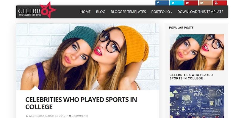 Celebro Free Blogger Template