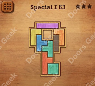 Cheats, Solutions, Walkthrough for Wood Block Puzzle Special I Level 63