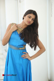 Telugu Actress Akshita (Pallavi Naidu) Latest Stills in Blue Long Dress at Inkenti Nuvve Cheppu Movie Promotions  0047.jpg