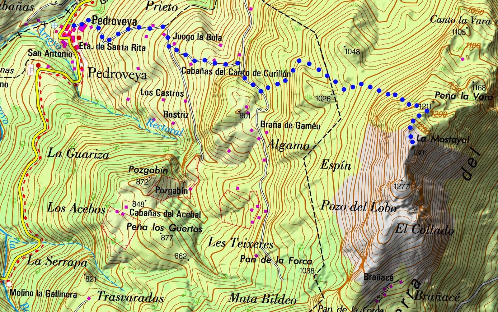Recorrido al pico Mostayal desde Pedroveya