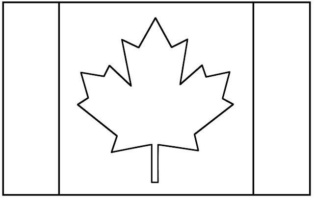 drapeau du canada à colorier