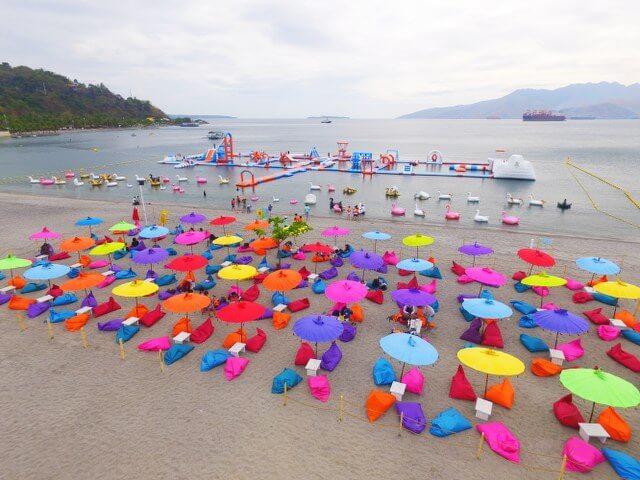Beach Resort in Zambales drone shot