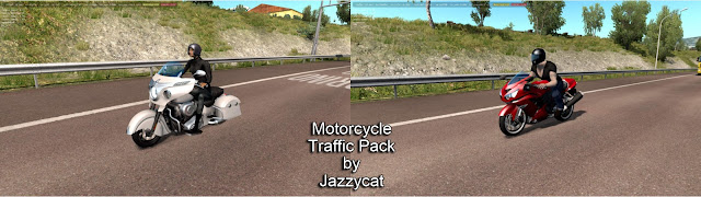 ets 2 motorcycle traffic pack v2.3 screenshots 1, Indian Chieftain, Kawasaki Ninja ZX-14R