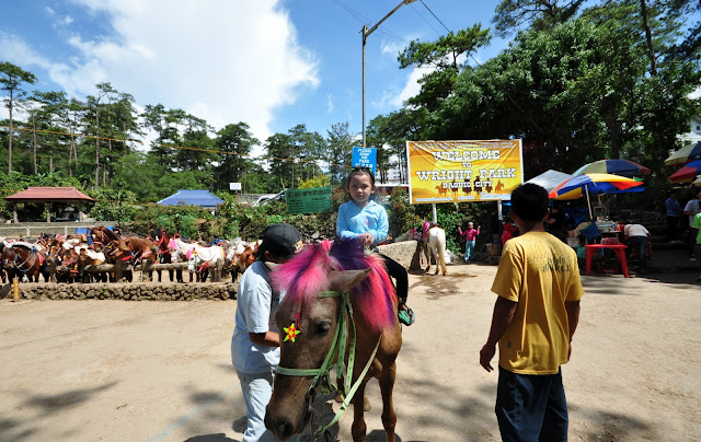 Horse back riding at Wright Park Baguio City