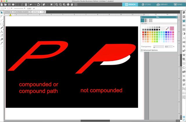 compound path, silhouette studio, silhouette design studio, silhouette studio tutorials, Silhouette Studio Software tutorials