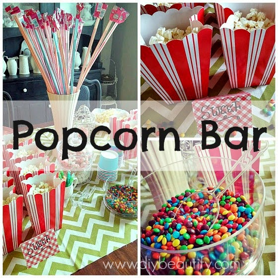 How to host a Popcorn Bar www.diybeautify.com
