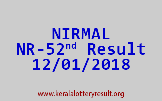 NIRMAL Lottery NR 52 Results 12-01-2018