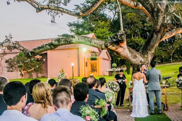 cerimônia - altar - casamento ao ar livre - casamento de dia - noivos - vale verde betim