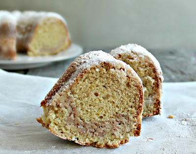 Zesty Lemon Bundt Cake with Streusel Swirl