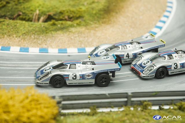 Custom Slot Car Porsche 917 Martini & Rossi Racing Daytona Sebring 1971
