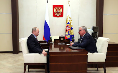 Vladimir Putin held a meeting with President and Board Chairman of VTB Bank Andrei Kostin.