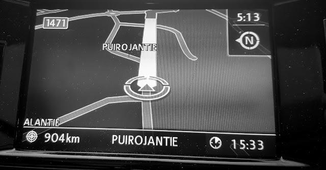 Pitkä automatka, navigaattori