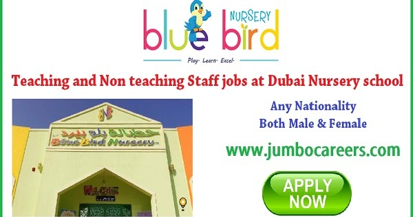 Teaching And Non Staff Jobs In Dubai For Blue Bird Nursery School