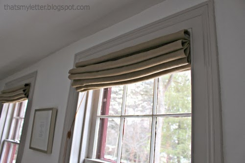 self lined roman shades