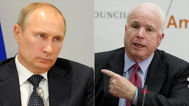 """""""Putin es más peligroso que Daesh""""… para el senador McCain"""