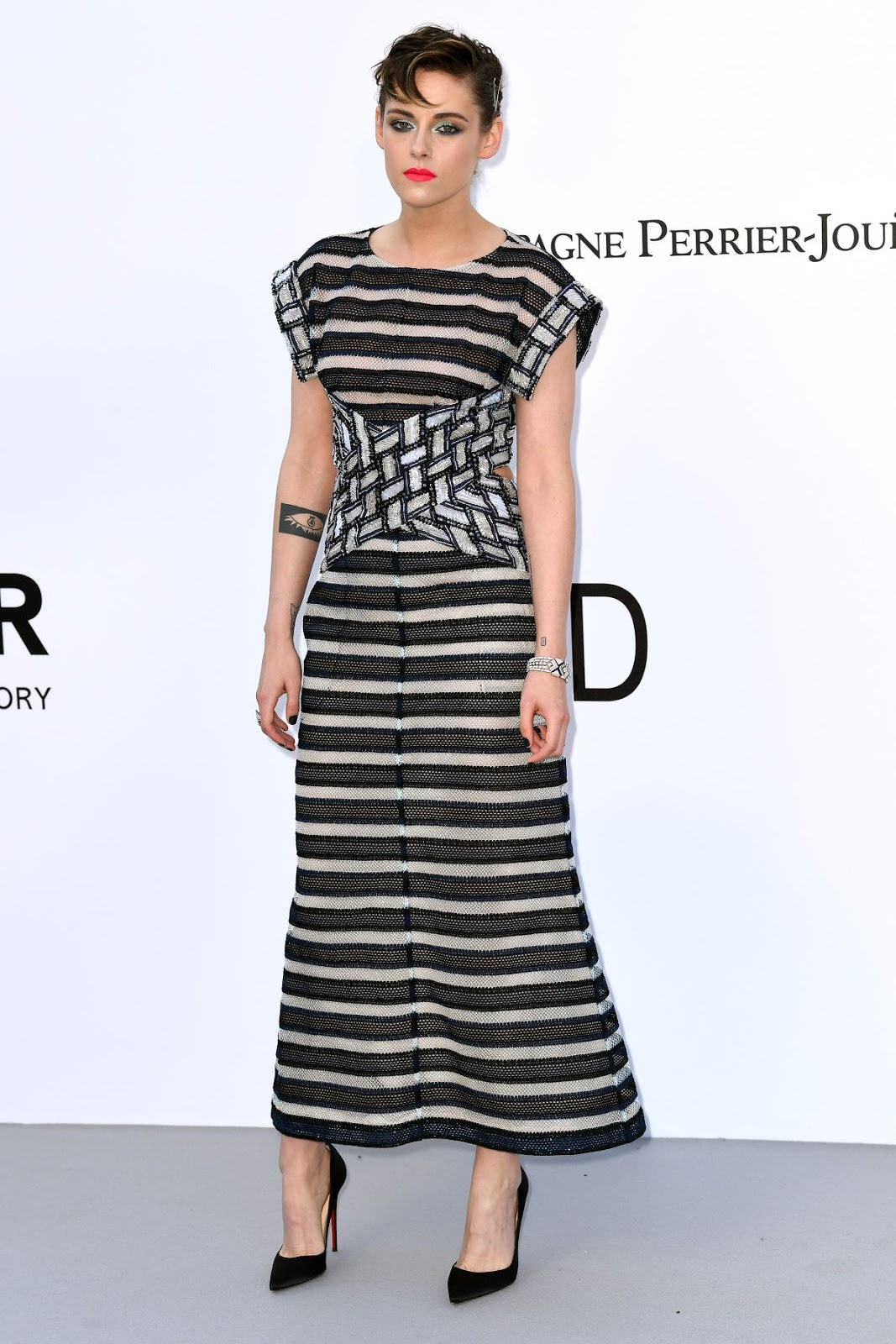 Kristen Stewart flaunts edgy hairpin hairdo at the amfAR Gala at Cannes
