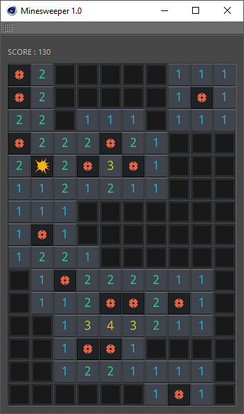 minesweeper gameover
