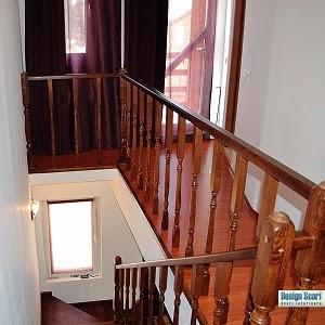 Design interior cu scari din lemn de stejar si fag