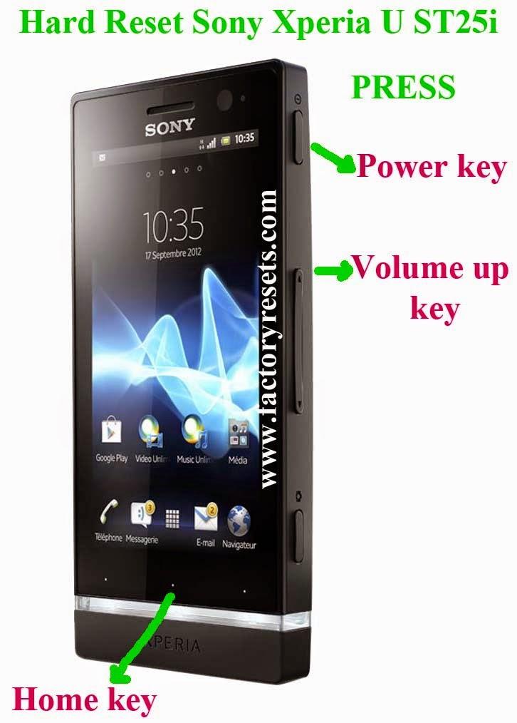 Hard Reset Sony Xperia U ST25i