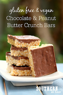 Chocolate Peanut Butter Crunch Bars Recipe
