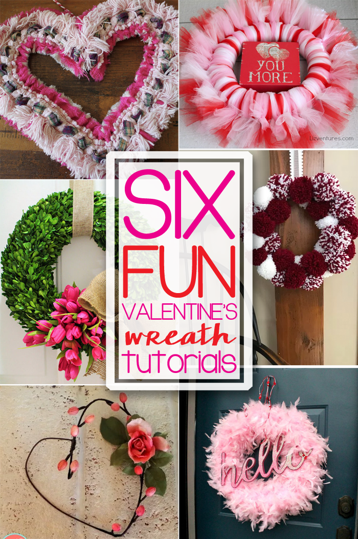 Six Valentine\'s Day Wreaths - Our Southern Home