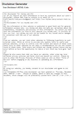 Cara Mudah Membuat Disclaimer Untuk Blog / Website