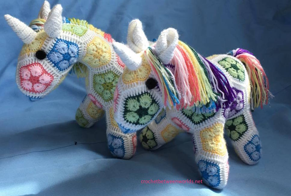 Crochet Between Worlds Ta Dah Rainbow Unicorns