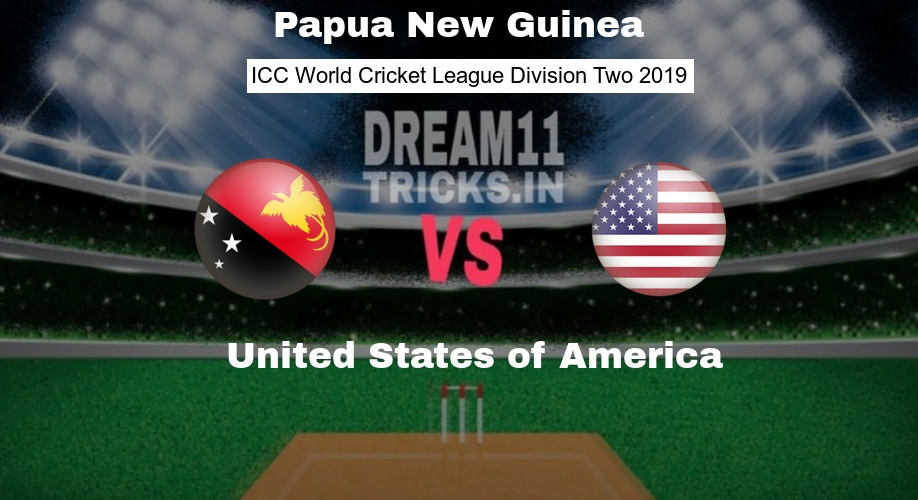 PNG vs USA Dream11 Prediction WCL Division Two Preview, Team