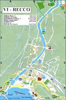 Recco Map. Liguria, Italy