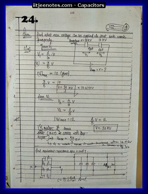 Capacitors notes iitjee9