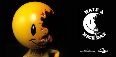 Half A Nice Day Vinyl Figure by Alex Pardee x ToyQube