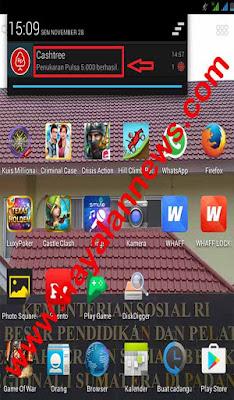 Cara daftar aplikasi cashtree 100% gratis pulsa android