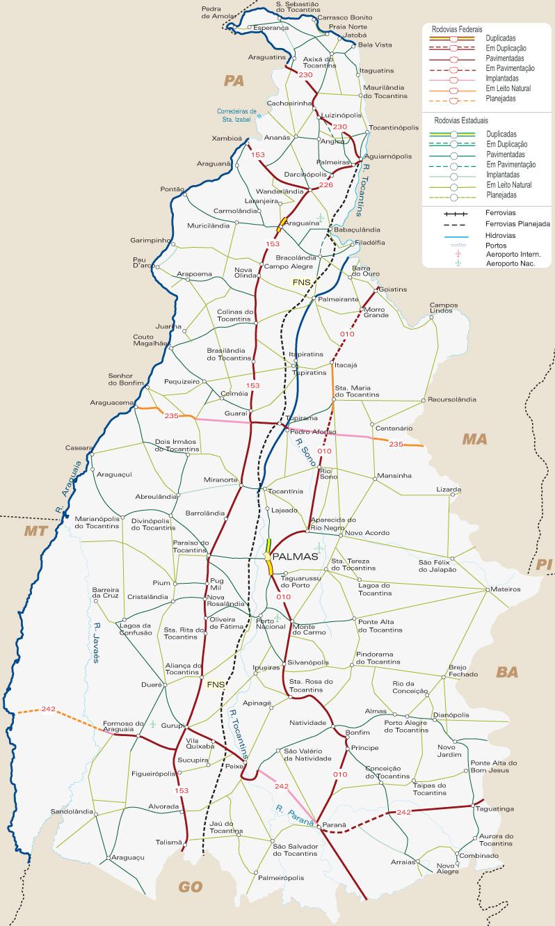 #Tocantins | Mapas Geográficos de Tocantins