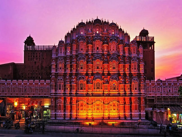 Hawa Mahal - The Palace of Winds - one of the prominent tourist attractions in Jaipur.
