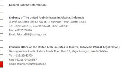 general contact information kedutaan emirates