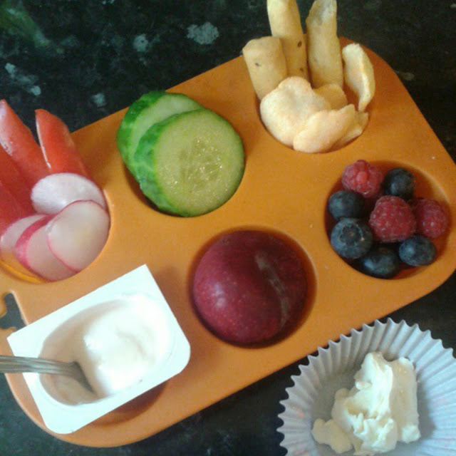 Weaning essentials,  muffin tray meal