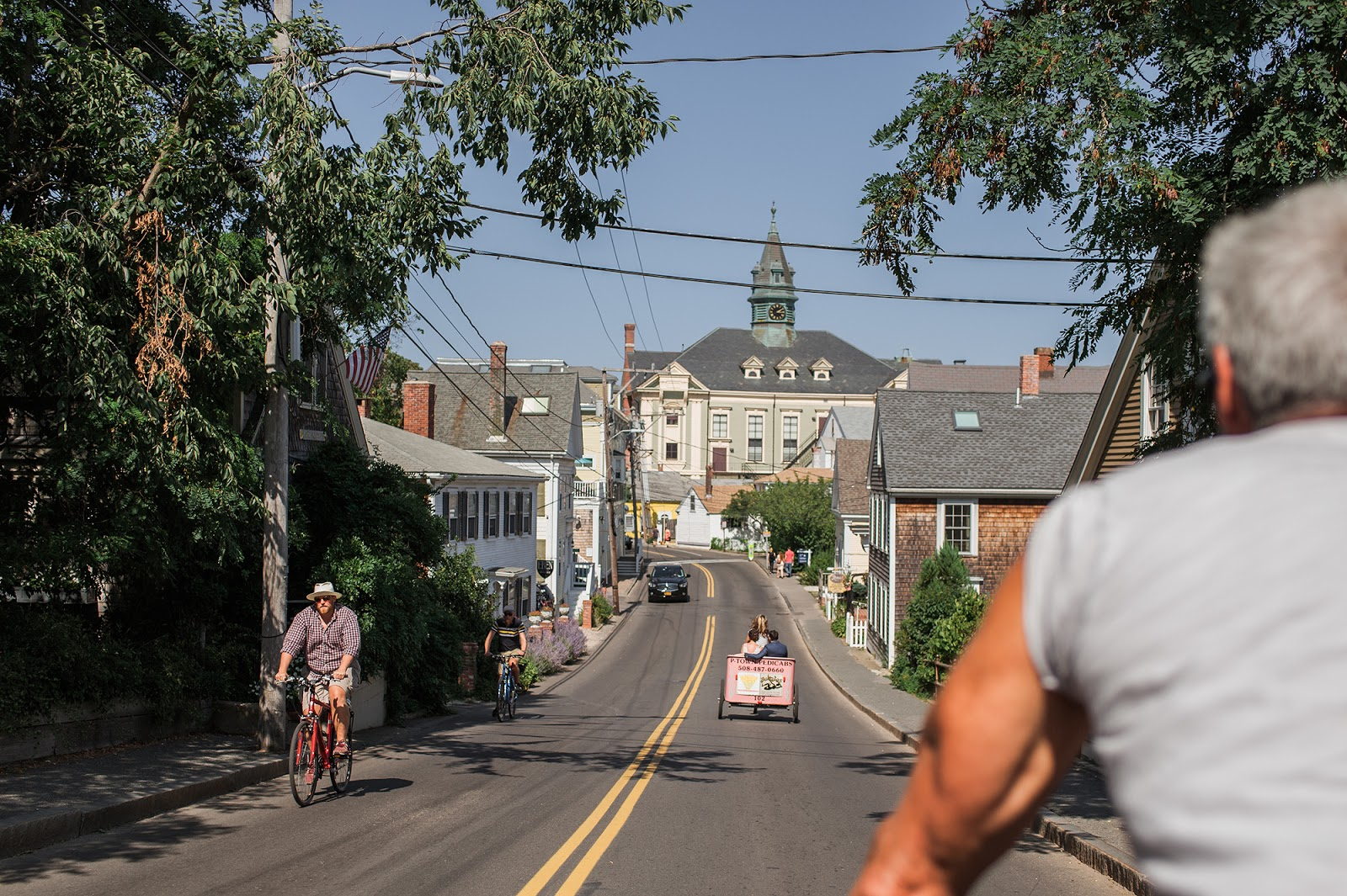Cape Cod Provincetown Wedding Pedicab from Eileen Meny Photography