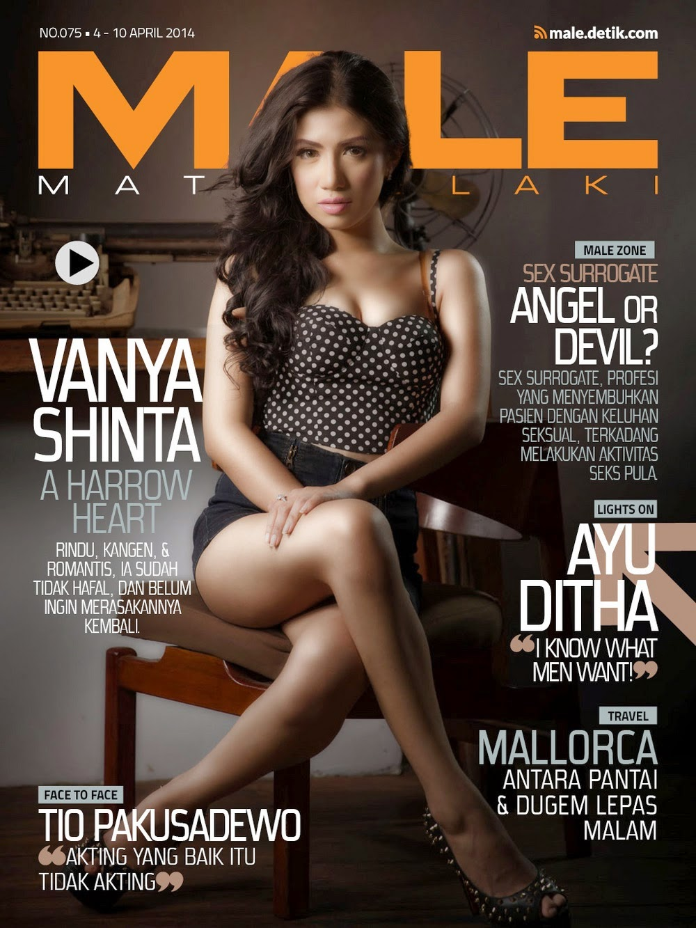 Vanya Shinta for Male Magazine Cover April 2014