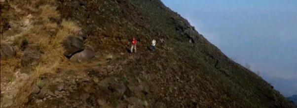 Jalur pendakian kuno kerajaan Mojopahit di Gunung Penanggungan