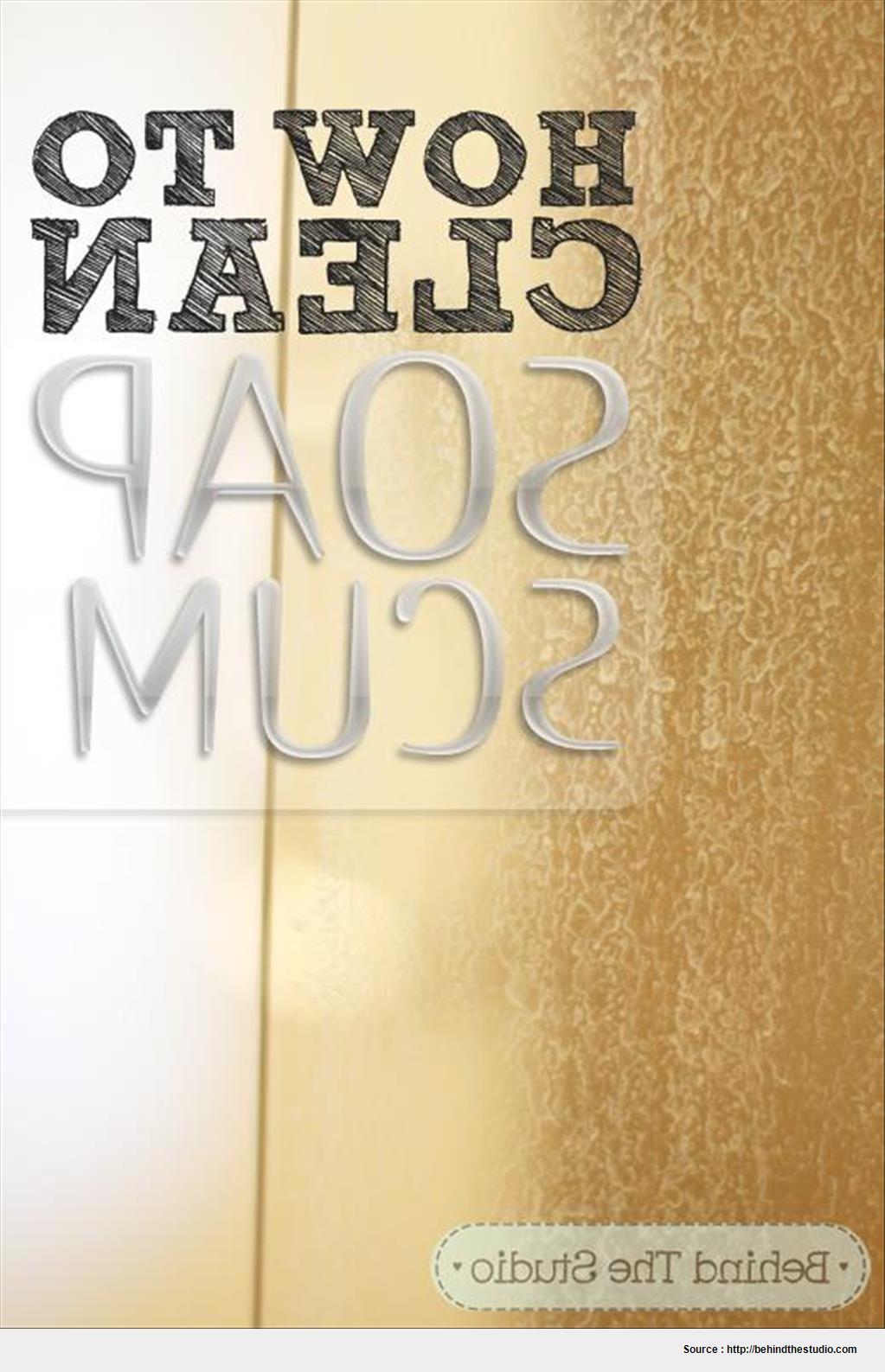 Best glass shower door cleaner soap scum image