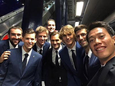 Roger Federer,Novak Djokovic,Dominic Thiem,Kevin Anderson,Marin Cilic,Alexander Zverev,Kei Nishikori,John Isner