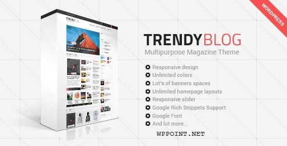 TrendyBlog - Multipurpose Magazine WP Theme Responsive