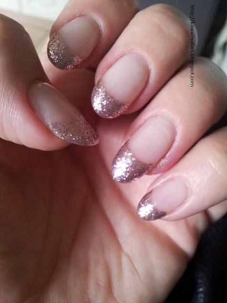 Kawaii Nail Art French Manicure With Twist