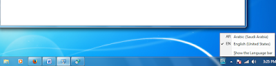 aktifkan keyboard arab di taskbar