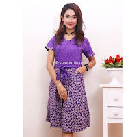 Dress Batik Deasy Motif Bunga 2