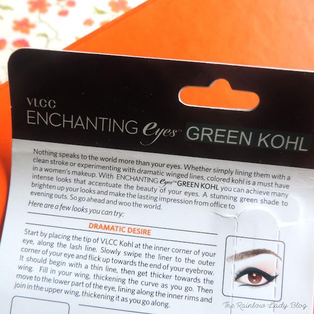 VLCC enchanting eyes green kohl review