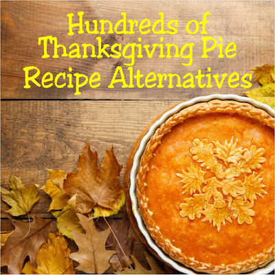 Enjoy your traditional Thanksgiving pie recipes in a yummy, alternative way. Get pumpkin pie, pecan pie, apple pie, and so many more pie recipes to sate your dessert appetite after the turkey has been put away.